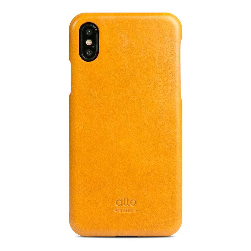 Alto|iPhone X / Xs 皮革保護殼 Original – 焦糖棕