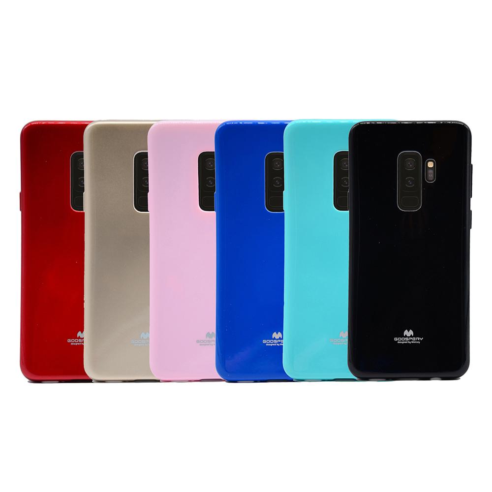 GOOSPERY SAMSUNG Galaxy S9+ JELLY 閃粉套(紅色)