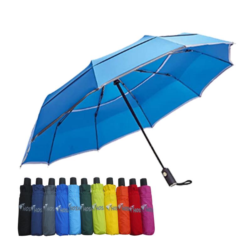 【HOSA】安全雙反光自動傘-寶藍
