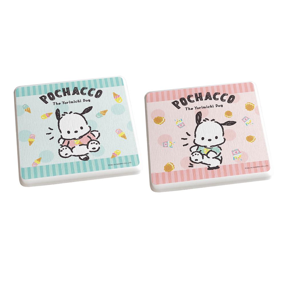 【收納王妃】帕恰狗冰淇淋款/三麗鷗系列珪藻土杯墊(2入組)