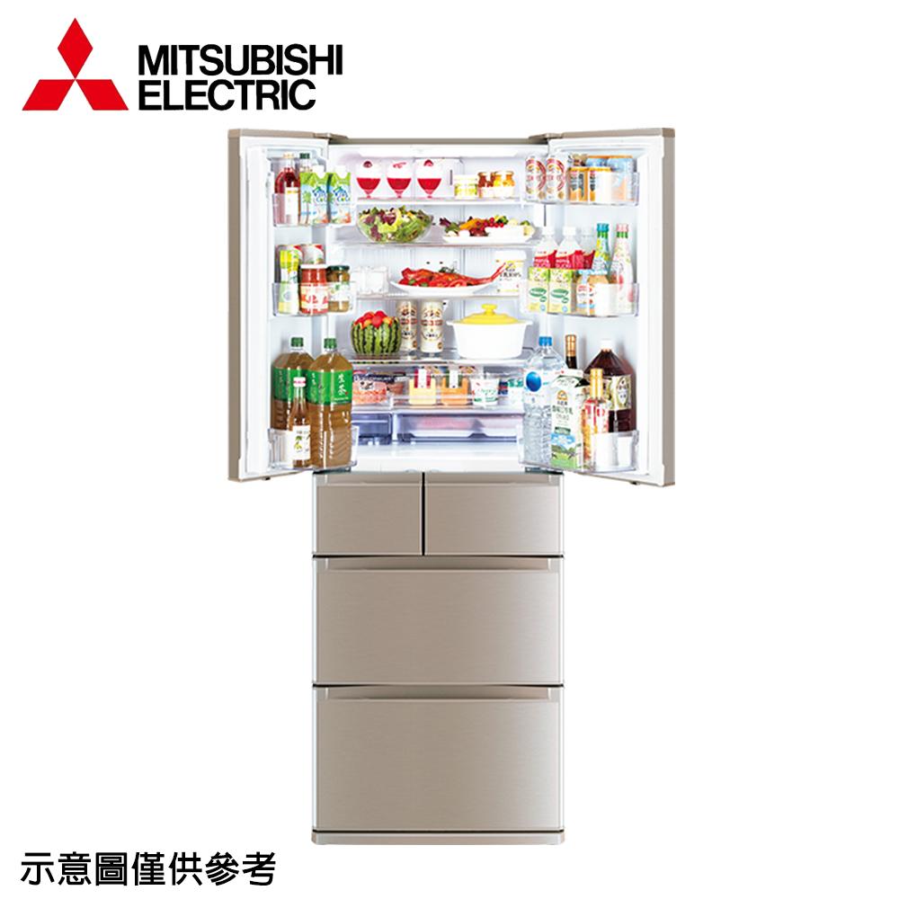 ★限量下殺★【MITSUBISHI 三菱】525公升日本原裝變頻六門冰箱MR-JX53C-N