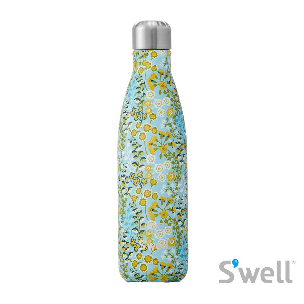 【S'well】紐約時尚不鏽鋼保冷保溫瓶-Liberty Fabrics&S'well系列 Primula Blossom 17oz(500ml)