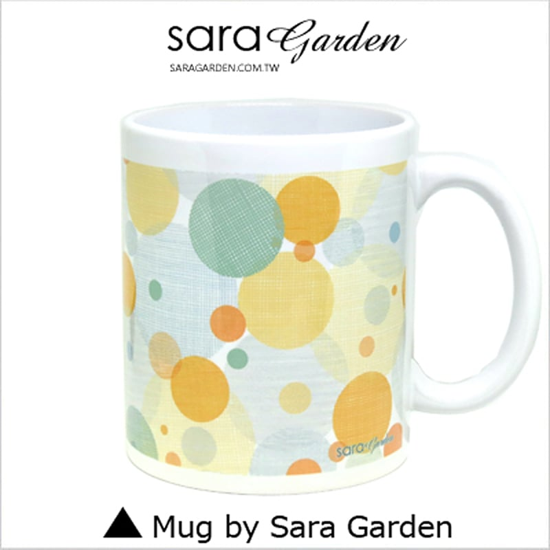 【Sara Garden】客製 手作 彩繪 馬克杯 Mug 格紋 刷色 馬卡龍 圓點 咖啡杯 陶瓷杯 杯子 杯具 牛奶杯 茶杯