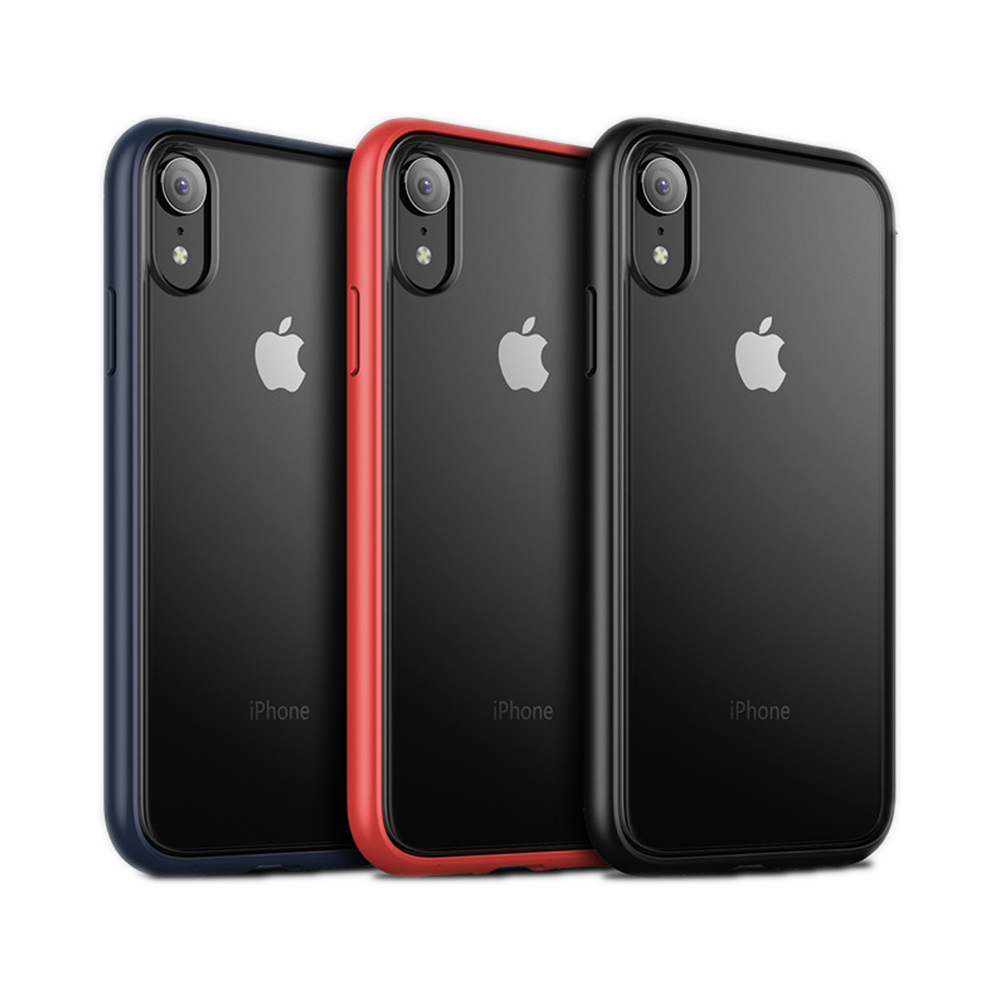 QinD Apple iPhone X/Xs 魔影保護殼(黑色)