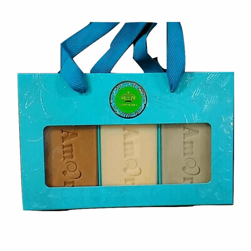 AMOR 頂級手工精油皂三入禮盒組合