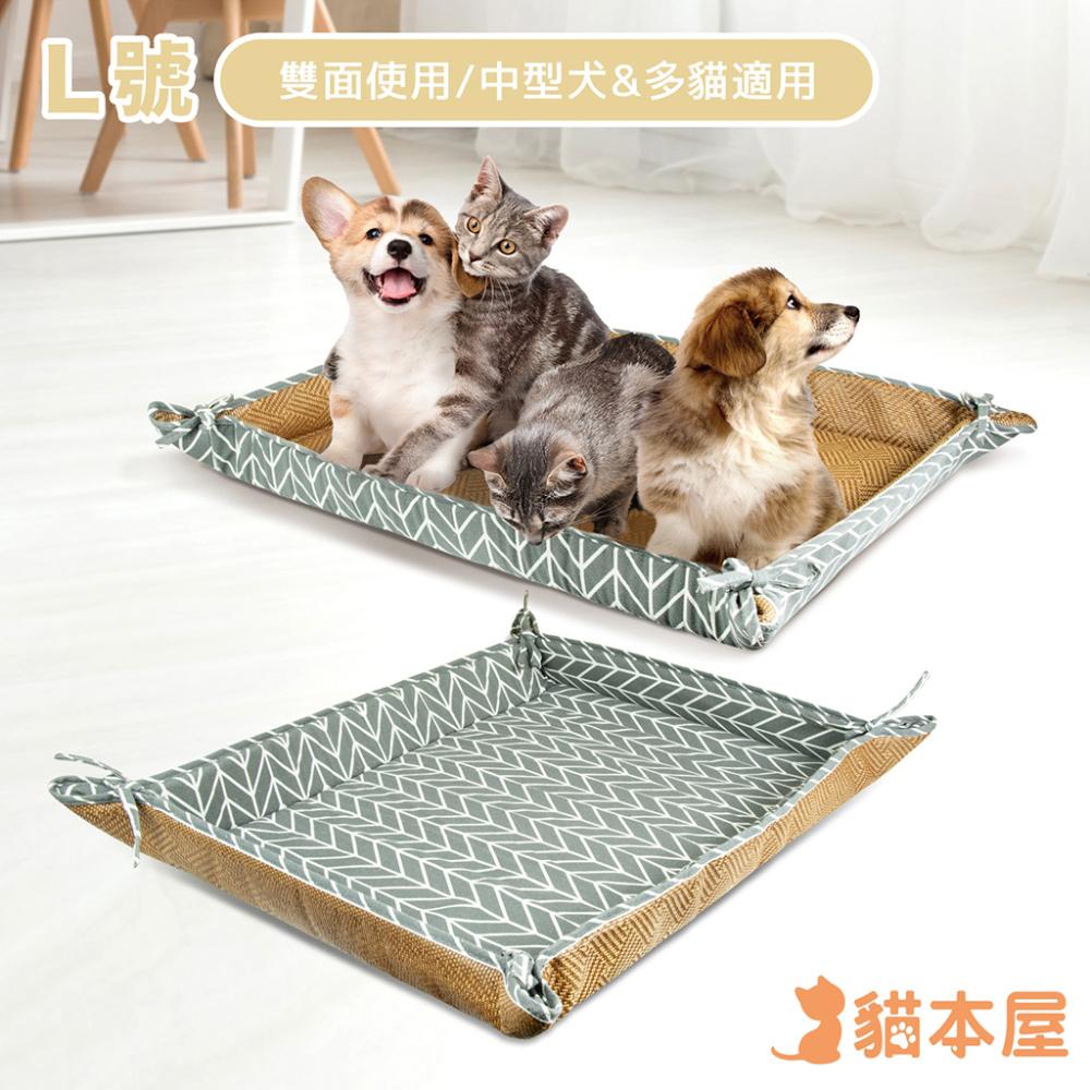 貓本屋 雙面使用 寵物涼蓆墊(L號/75x60cm)