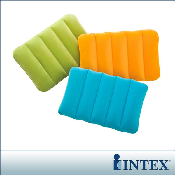 【INTEX】彩色充氣枕-三色隨機出貨(68676)