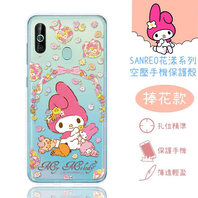 【美樂蒂】三星 Samsung Galaxy A60 (6.3吋) 花漾系列 氣墊空壓 手機殼(捧花)