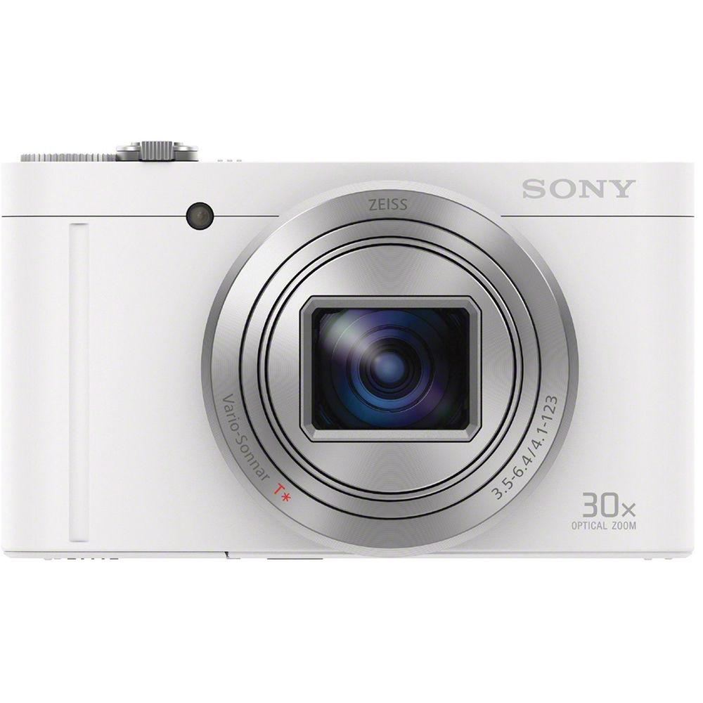 SONY WX500 高倍率旅遊自拍機(公司貨)_白色-2019/2/17前送【SF-32UY3】原廠 32GB SD 記憶卡