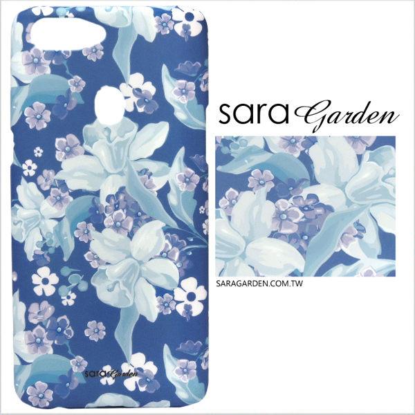 【Sara Garden】客製化 手機殼 ASUS 華碩 Zenfone3 Deluxe 5.7吋 ZS570KL 紫羅蘭碎花 手工 保護殼 硬殼