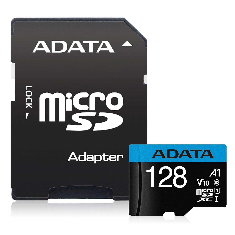 記憶卡 ADATA MicroSD 128GB UHS-I A1 100MBs (附轉卡)