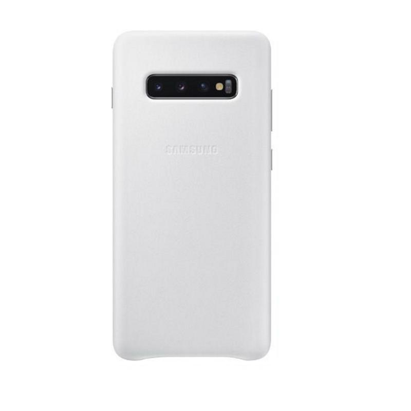 SAMSUNG Galaxy S10+ 皮革背蓋 白