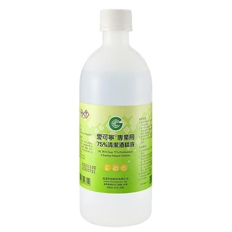 愛可寧 75%清潔酒精 500ml【躍獅】