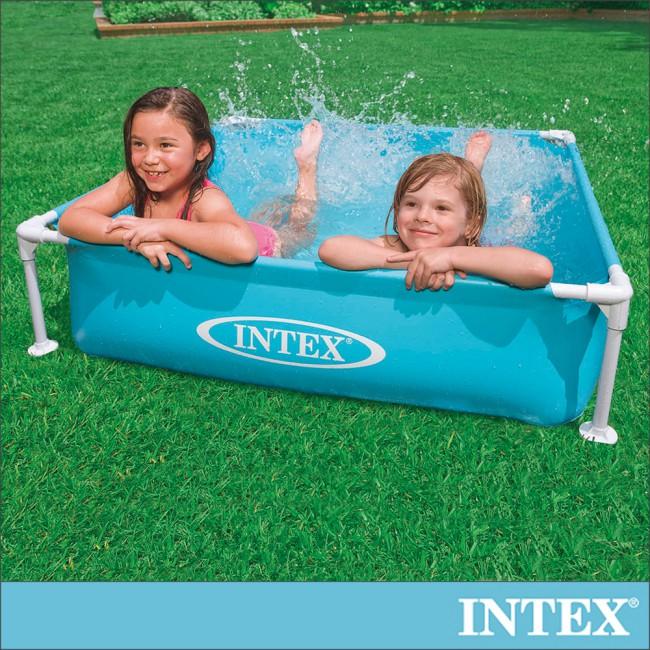 INTEX 方型四柱游泳池/戲沙池122x122cm(337L)2歲+(57173)