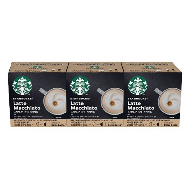 售完不補【雀巢 Nestle】雀巢 Nestle 星巴克拿鐵咖啡膠囊3盒入 36顆超值組(12顆/盒,共3盒)(效期至:2021/06/30)