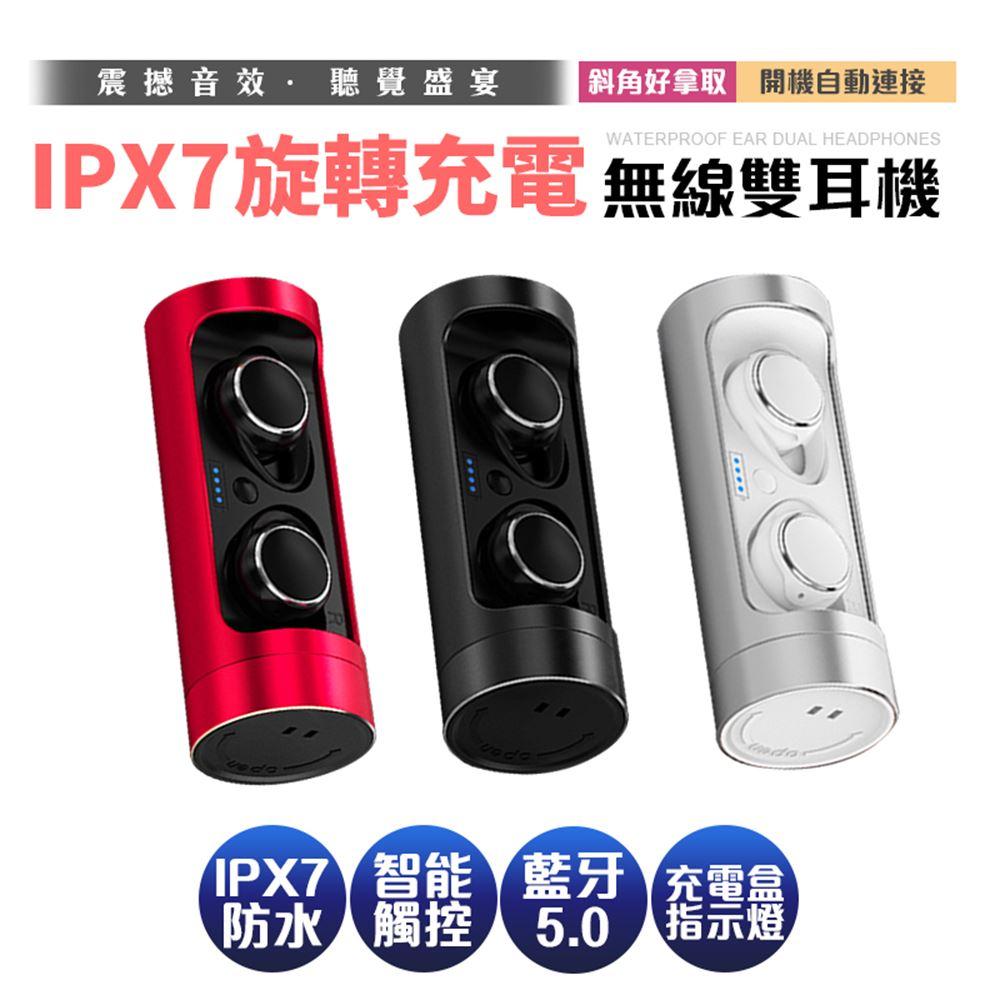 【SOYES】藍牙5.0雙耳立體聲防水藍牙耳機T3(電艙電量顯示+贈收納袋+掛繩)紅色