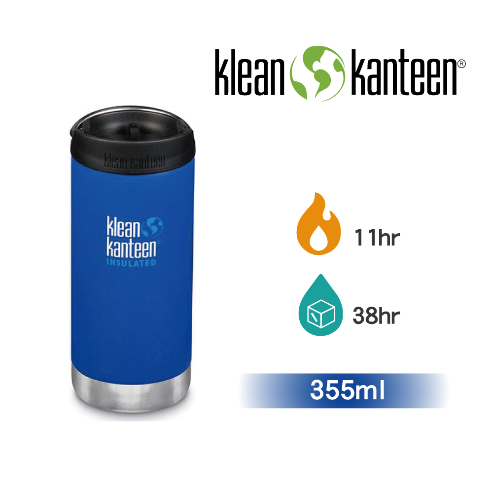 【美國Klean Kanteen】TKWide寬口不鏽鋼保溫瓶-355ml海底藍