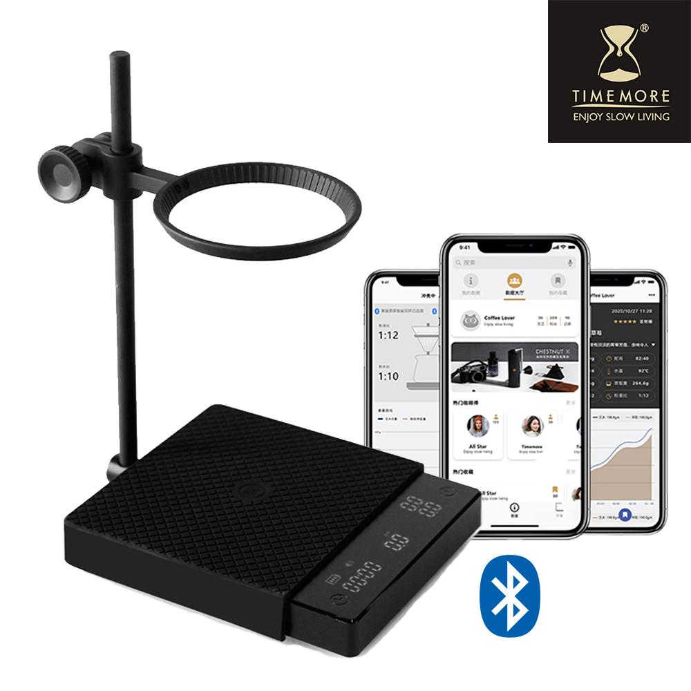 TIMEMORE泰摩 黑鏡2.0 智能手沖咖啡電子秤(雙秤&計算水流功能)