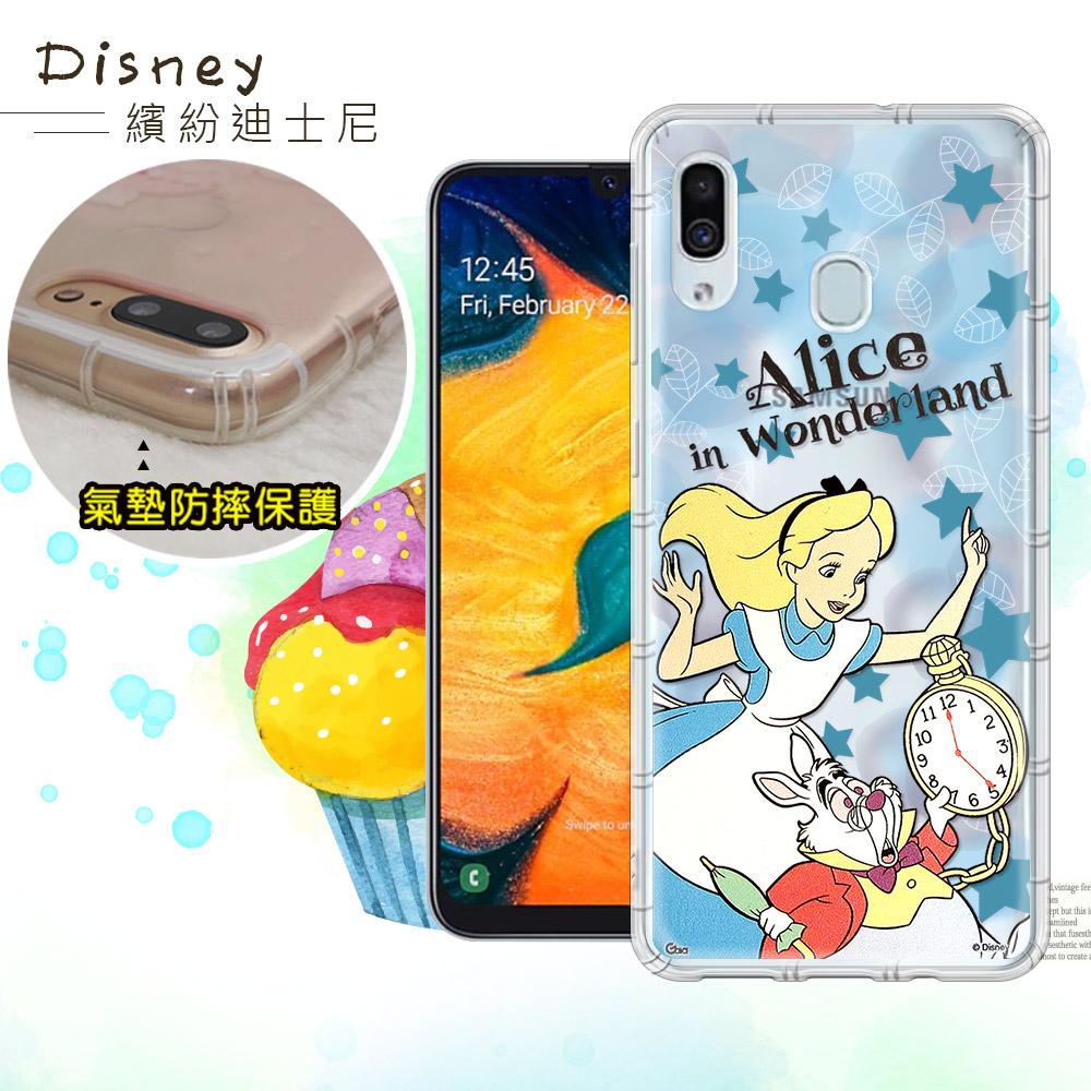 迪士尼授權正版 三星 Samsung Galaxy A30 繽紛空壓安全手機殼(愛麗絲)