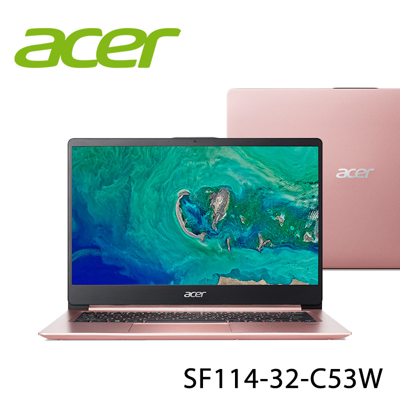 【ACER宏碁】SF114-32-C53W 14吋 四核心 筆電-送無線鼠+電腦除塵刷(贈品隨機出貨)