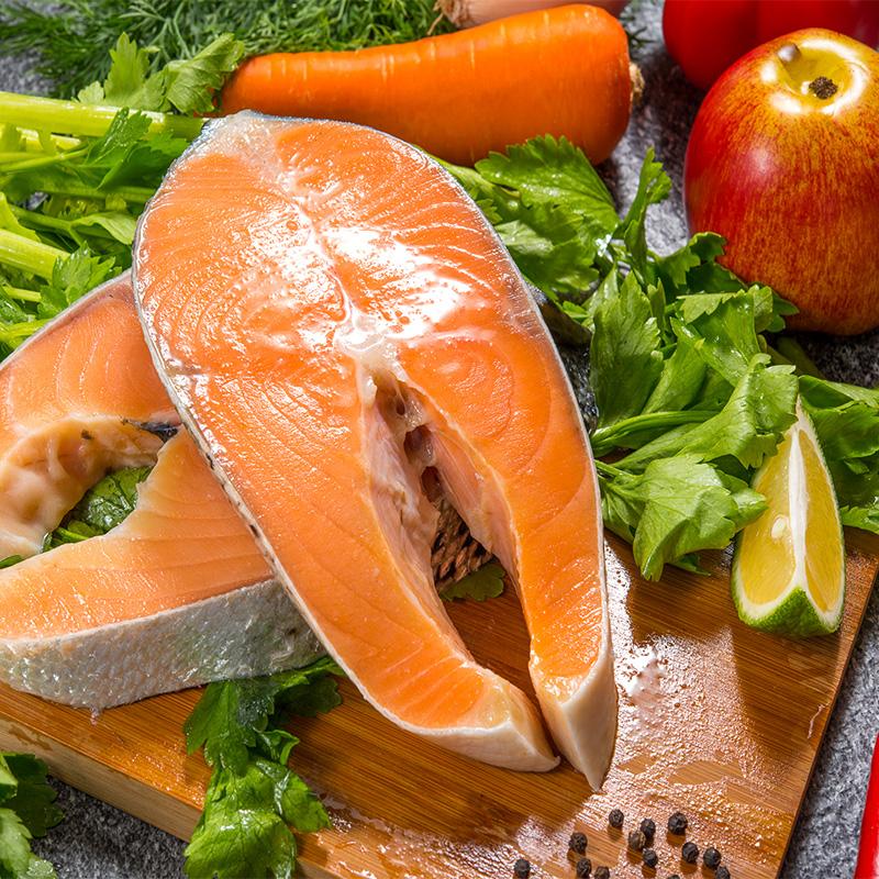 【鮮綠生活】超特厚智利鮭魚切片 330克±10%/片,共8片