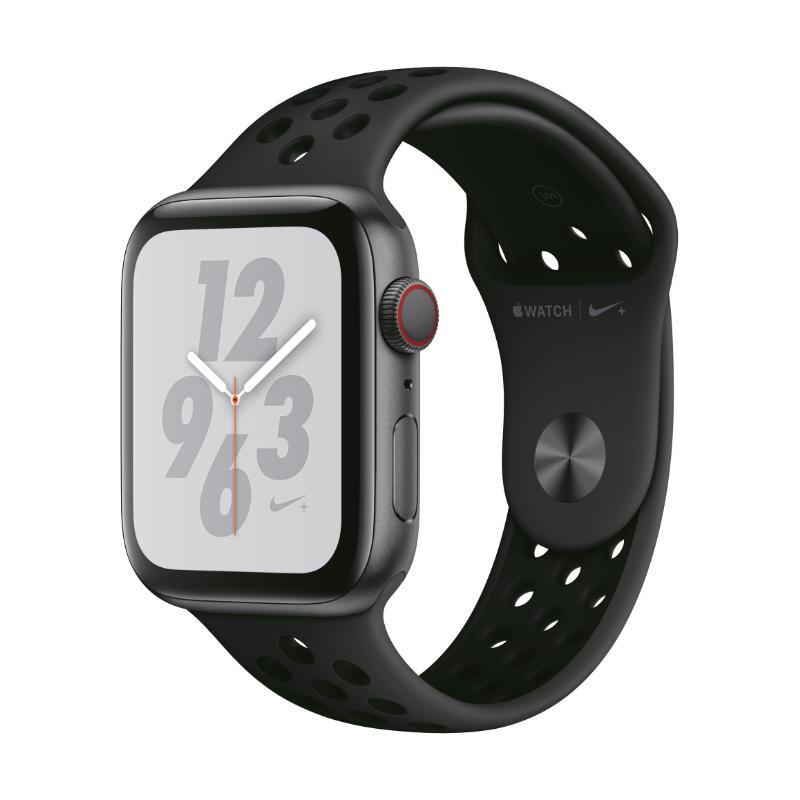 Apple Watch S4 LTE 44mm 太空灰色鋁金屬-Nike 運動型錶帶