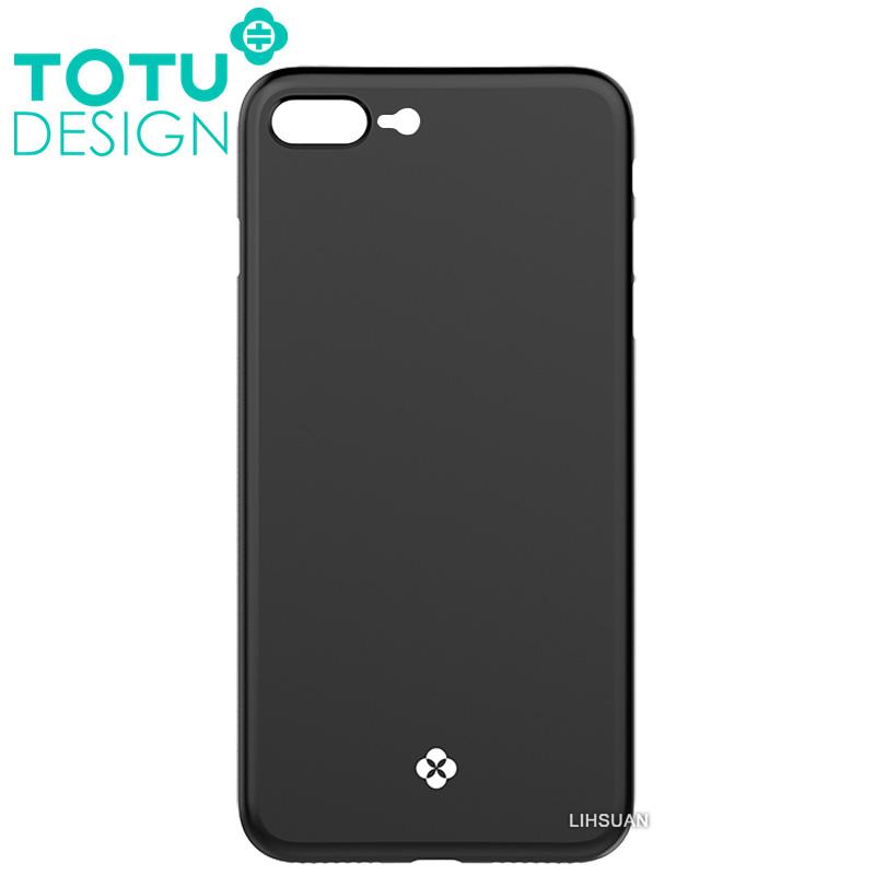 【TOTU台灣官方】iPhone8Plus手機殼 晶瑩系列 黑色