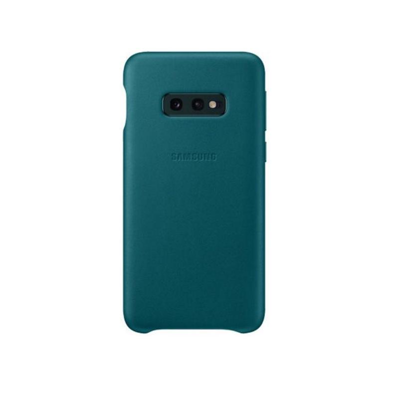 SAMSUNG Galaxy S10e皮革背蓋 綠