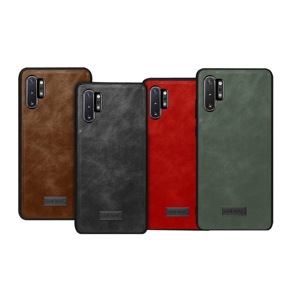SULADA SAMSUNG Galaxy Note 10 皮紋保護套(暗夜綠)