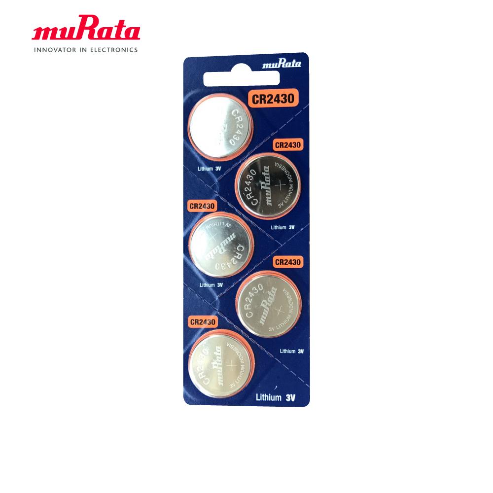 muRata 村田 CR2430 鈕扣型鋰電池5入/卡 台灣公司貨