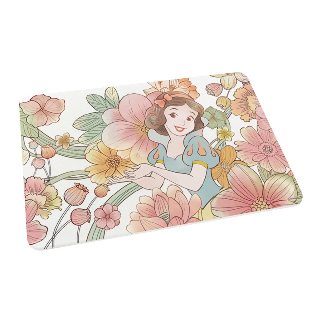 【收納王妃】迪士尼公主系列珪藻土吸水地墊-花朵白雪