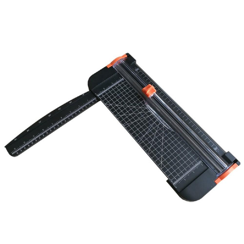 FJ 安全不刮手A4滑動式裁紙器 加碼贈2組裁刀頭 黑色