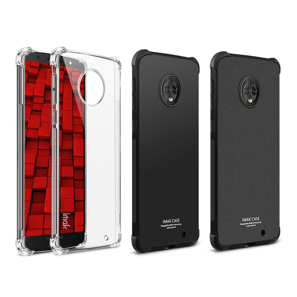 Imak Motorola Moto G6 Plus 全包防摔套(氣囊)(金屬黑)