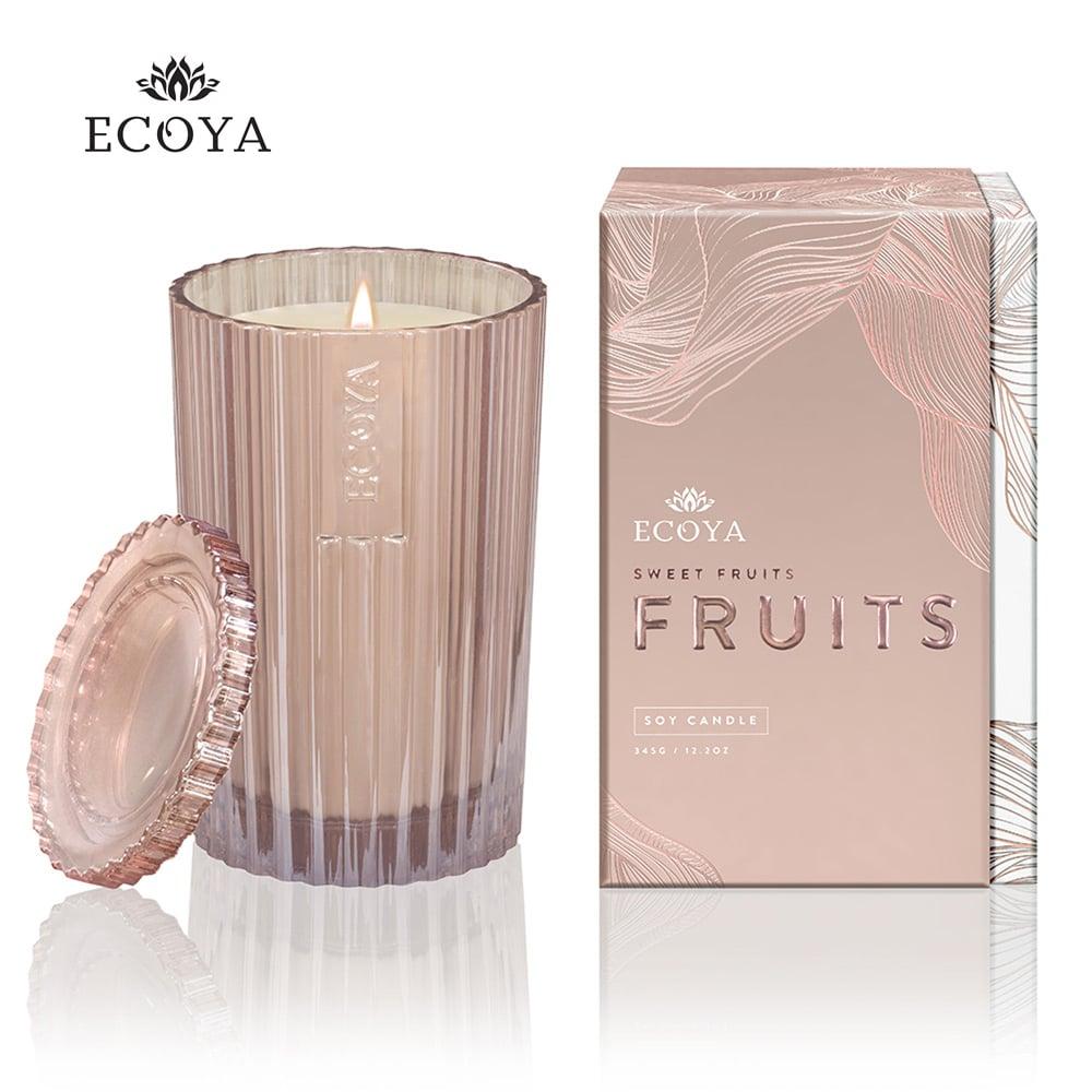 澳洲ECOYA 精緻香氛蠟燭-粉紅香檳 345g