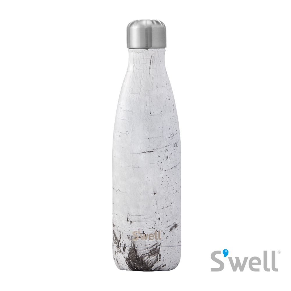 【S'well】紐約時尚不鏽鋼保冷保溫瓶-Wood系列 White Birch 17oz(500ml)