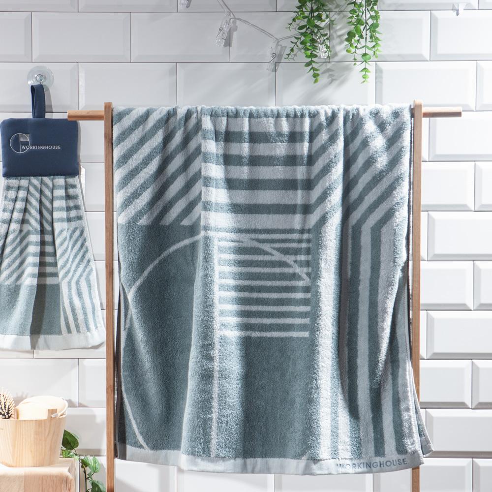 幾何世界浴巾-生活工場