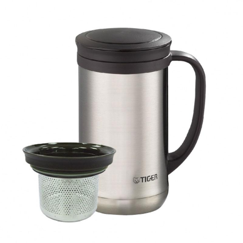 TIGER虎牌 500cc不鏽鋼保溫保冷辦公室杯有茶濾網 MCM-T050