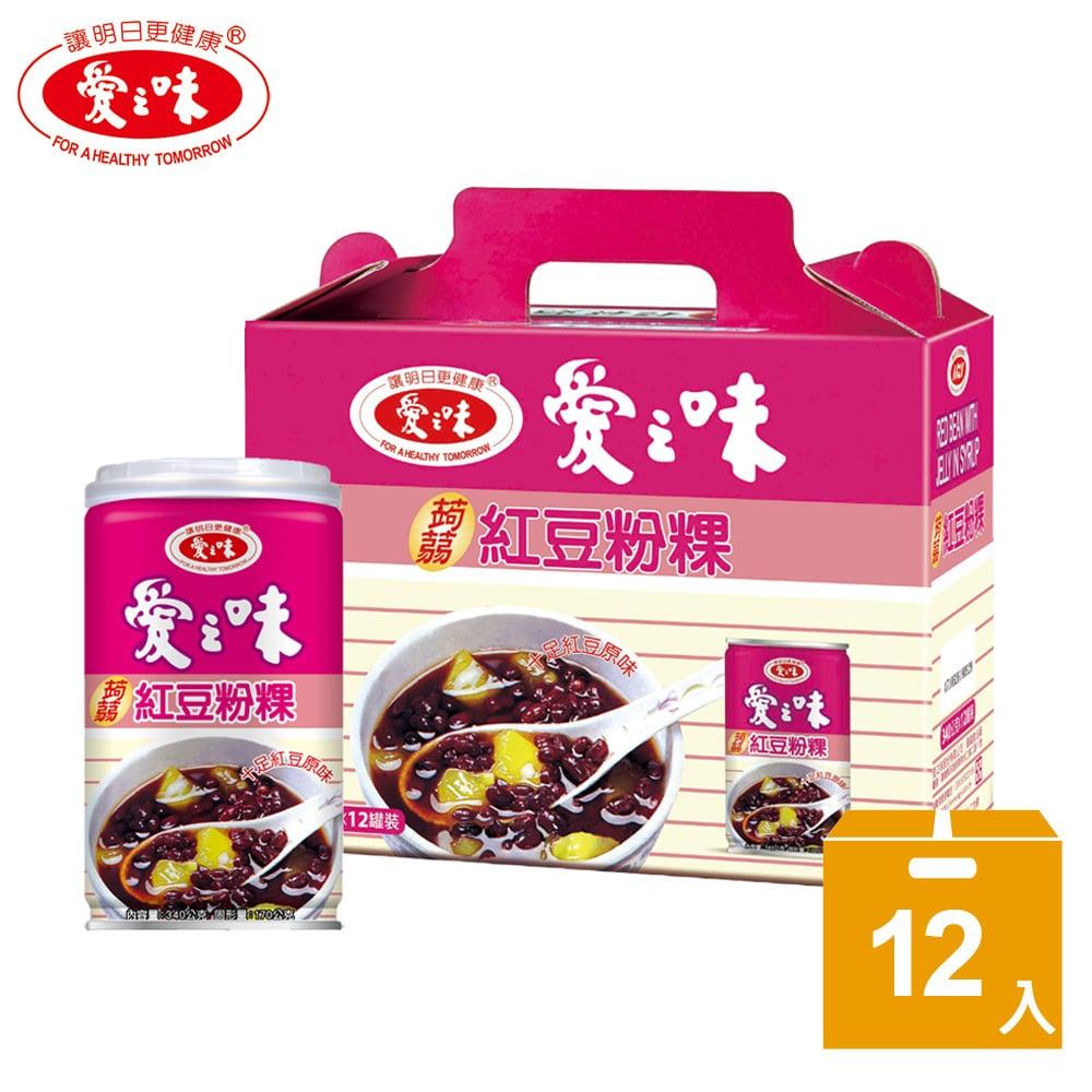 【愛之味】蒟蒻紅豆粉粿340g*12入