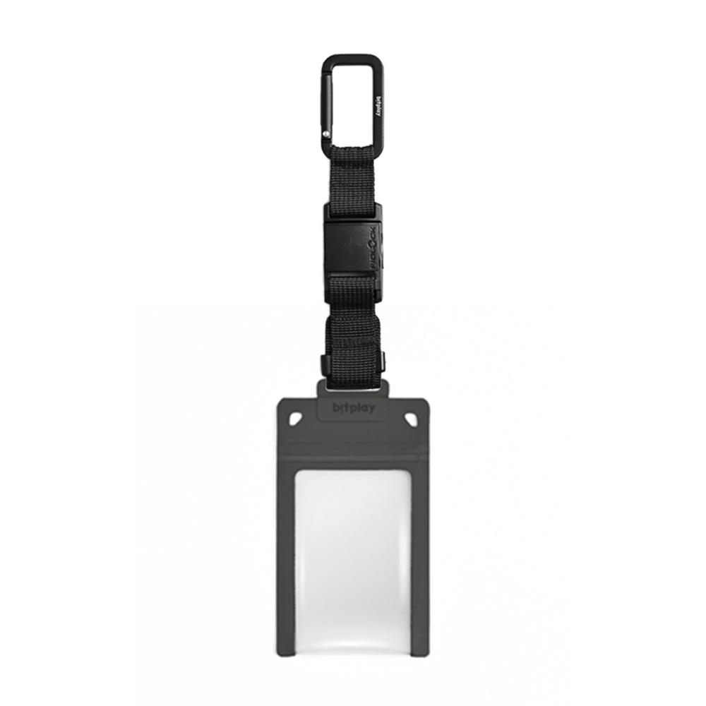 bitplay AquaSeal 防水機能證件套 - 暗夜黑 + Fidlock® 瞬扣掛鉤