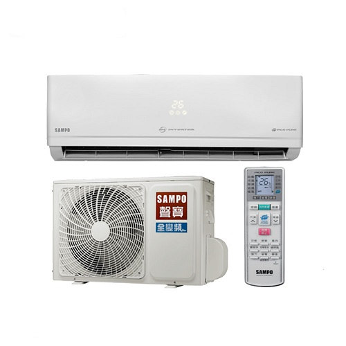 ★含標準安裝★【SAMPO聲寶】變頻冷暖分離式冷氣11坪AU-PC72DC1/AM-PC72DC1