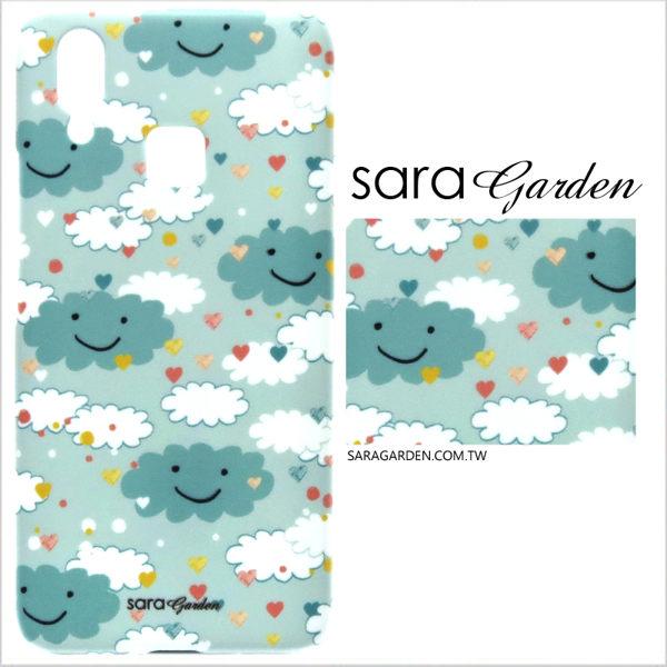 【Sara Garden】客製化 手機殼 SONY XA2 保護殼 硬殼 手繪微笑雲朵