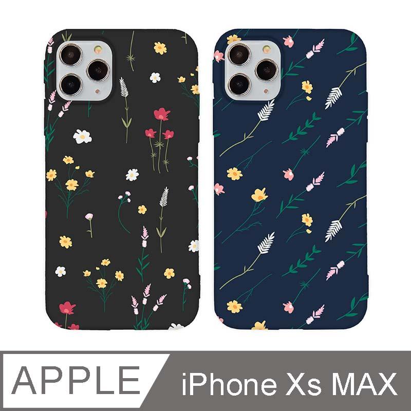 iPhone Xs Max 6.5吋 Small Daisy小雛菊碎花iPhone手機殼 黑色