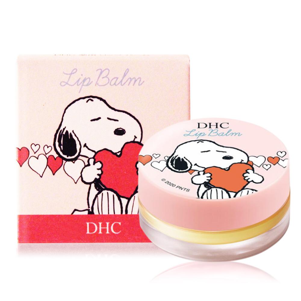 DHC 純橄欖護唇膏 史努比聯名限定版(7.5g)-圓罐粉色