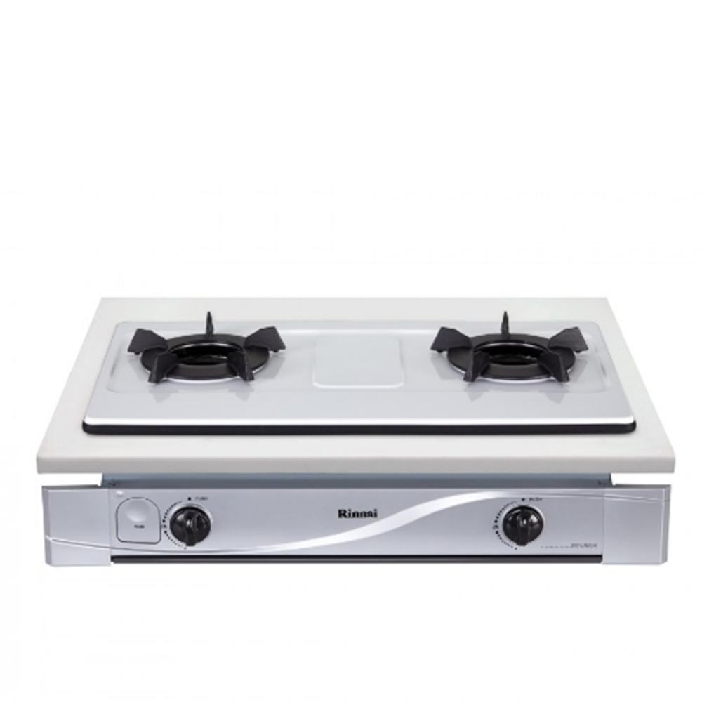 (全省安裝)林內雙口內焰嵌入爐內焰爐鑄鐵爐架法瑯(與RBTS-N201W同款)瓦斯爐RBTS-N201W_LPG
