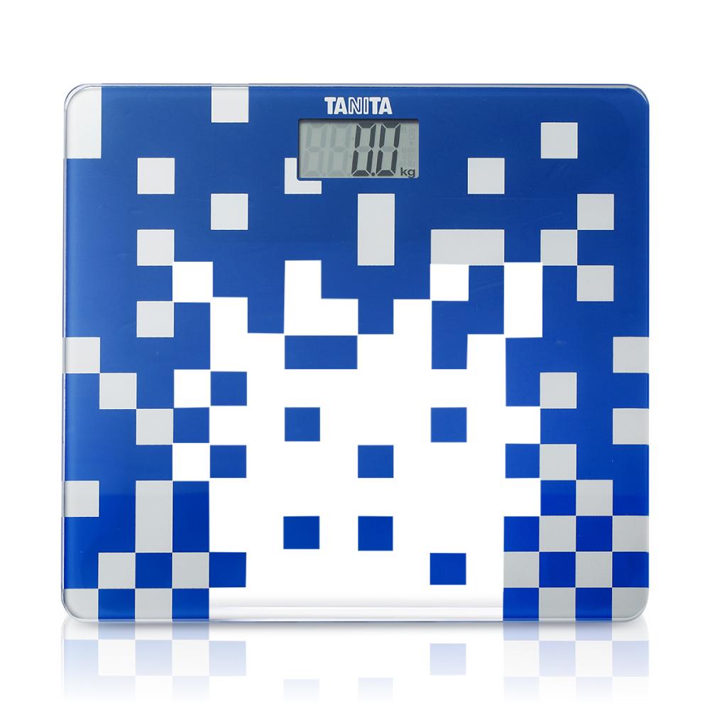 【日本TANITA 】時尚超薄電子體重計HD-380 -透明藍