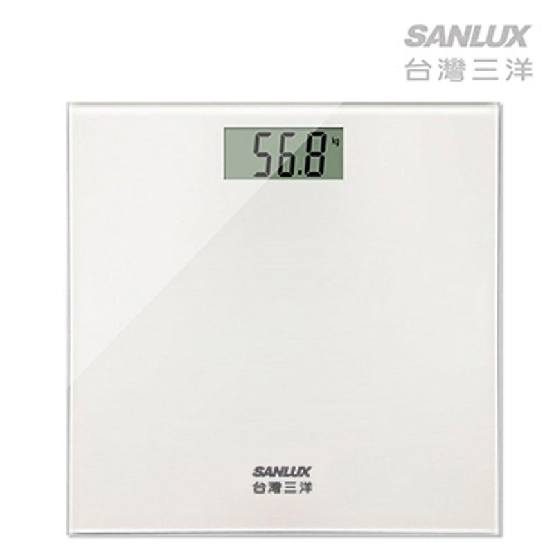 【台灣三洋SANLUX】數位體重計(SYES-301W)白色