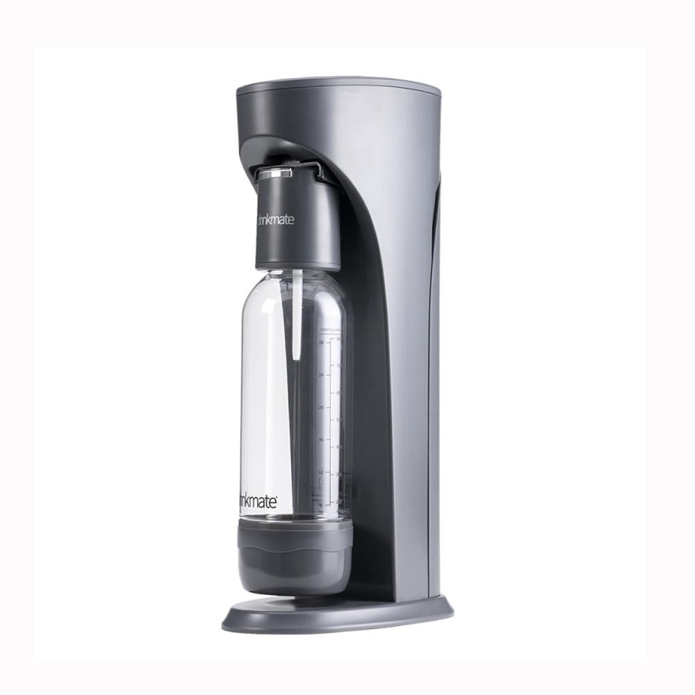 Drinkmate Rhino410 氣泡水機1L+0.5L水瓶CO2瓶 犀牛機 鋼鐵灰