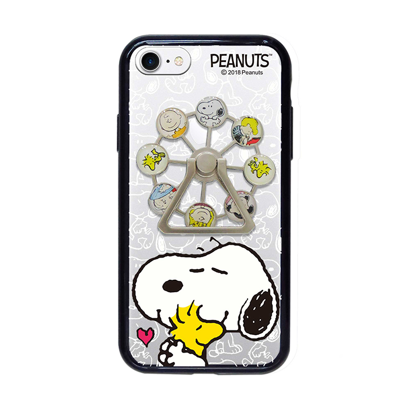 【正版授權】SNOOPY iPhone7/8 4.7吋 摩天輪支架 精緻防摔保護殼_擁抱