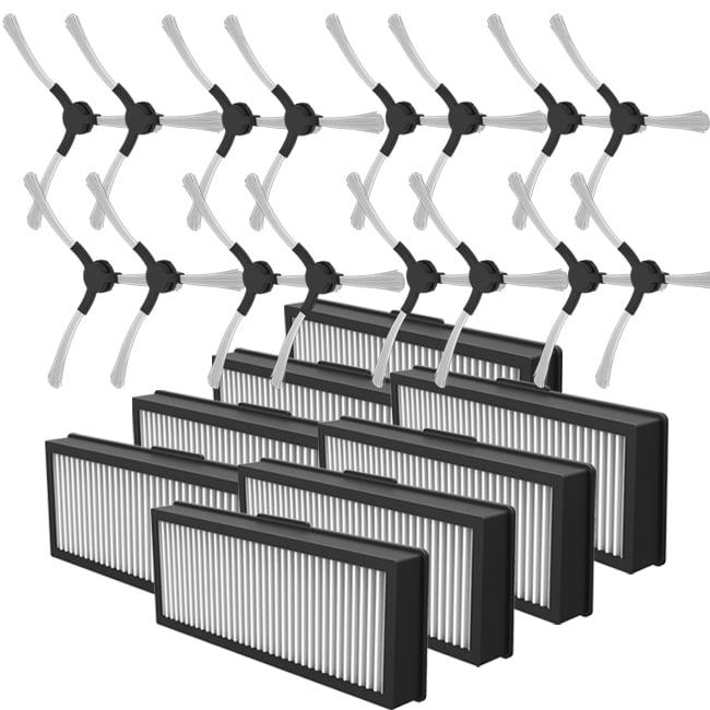 【ZEBOT智小兔】智慧型負離子掃地機器人專用。二年份耗材(側刷+濾網各8組)(A1247_005)