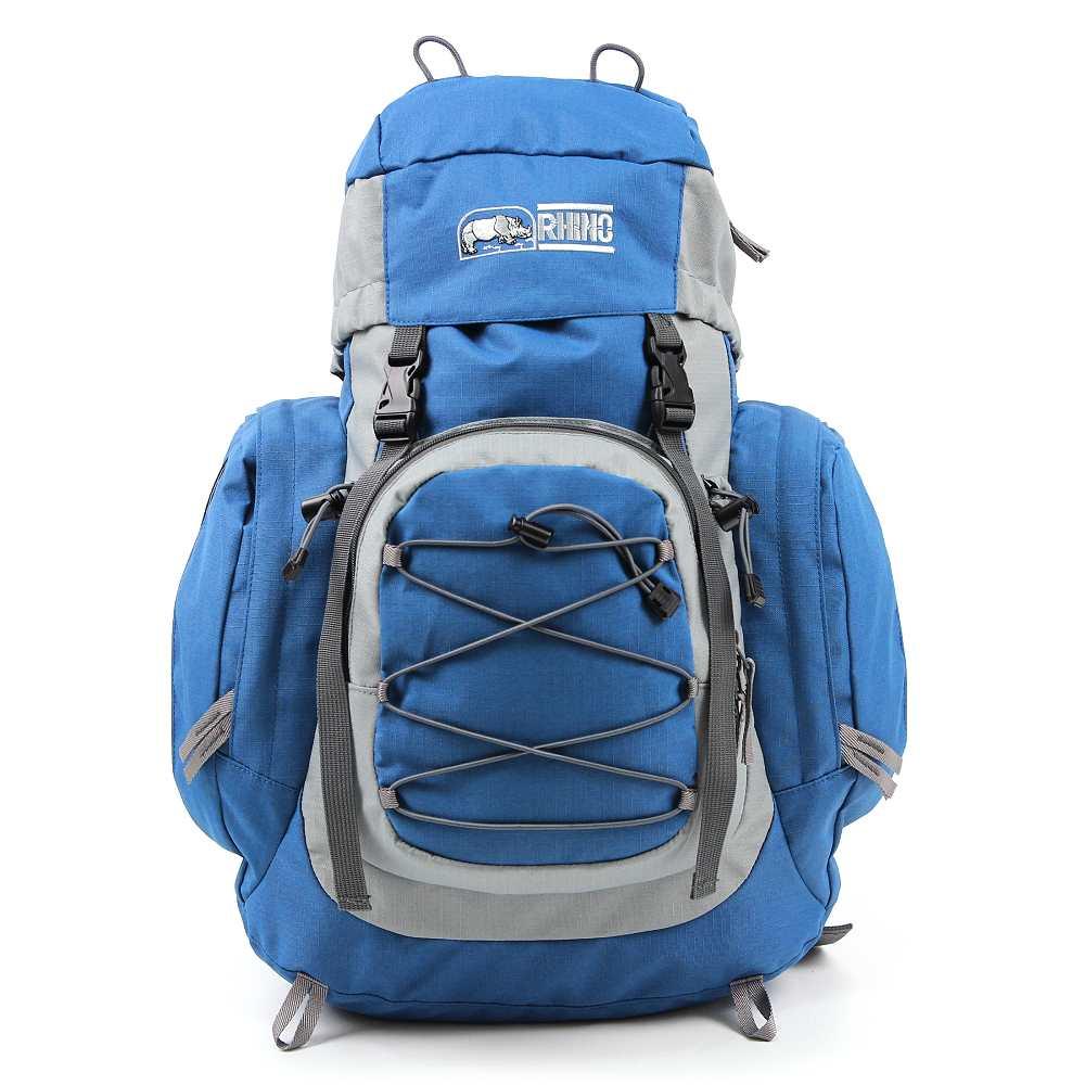 犀牛 RHINO  透氣彈性鋼網架背包G129(29公升)-藍